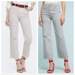 Anthropologie Mother Jeans Maverick Gray Denim 27